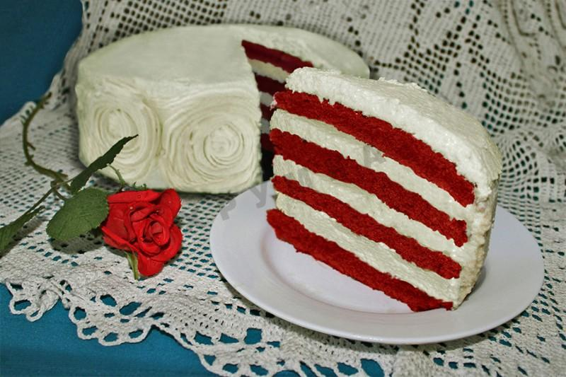 Торт Красный бархат на кефире