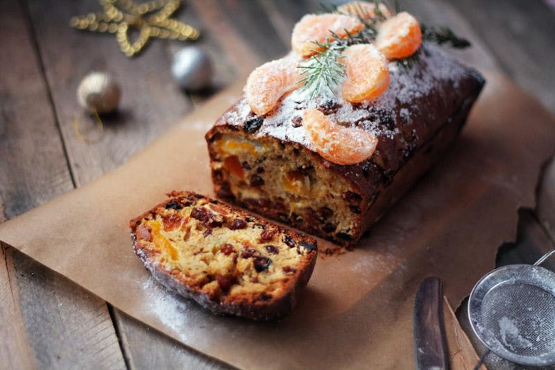 Быстрый рождественский кекс с мандаринами