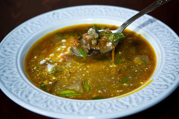Деревенский грибной суп