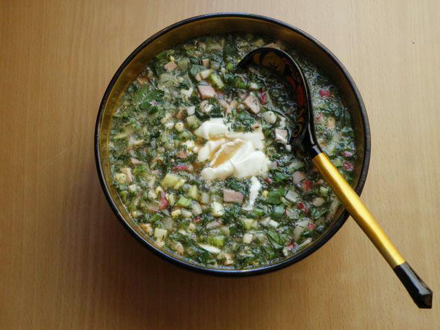 Окрошка — холодный суп на квасе