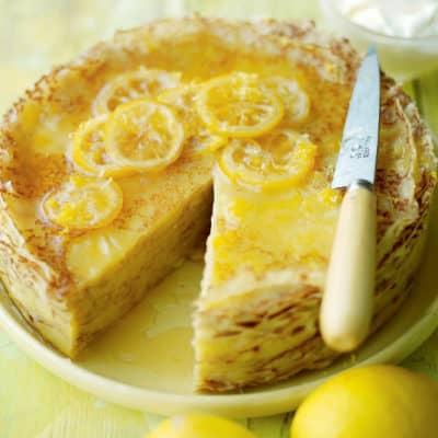 Блинный торт с лимонным курдом