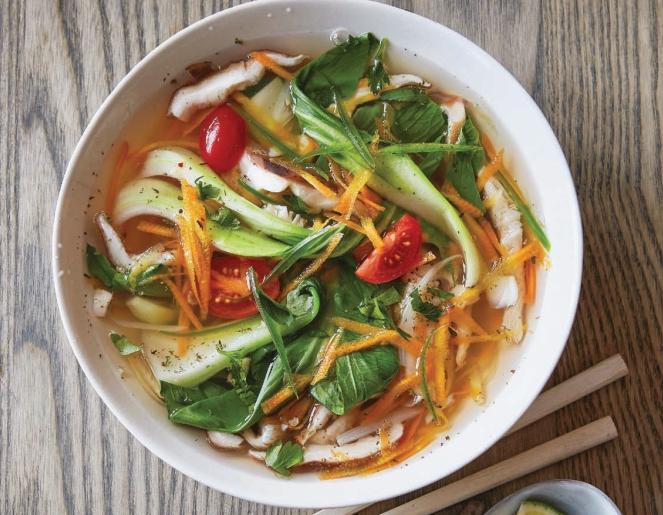 Острый азиатский суп из овощей