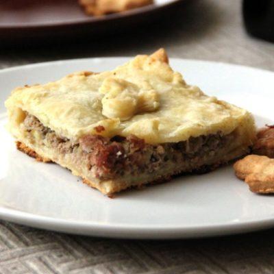 Пирог с говядиной и белыми грибами