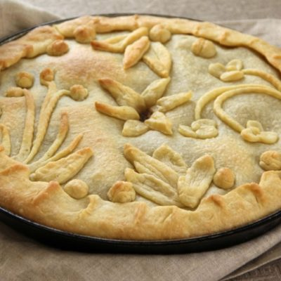 Пирог с говядиной и овощами