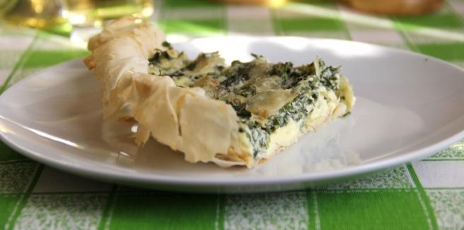 Пирог с петрушкой зелёным луком и спаржей