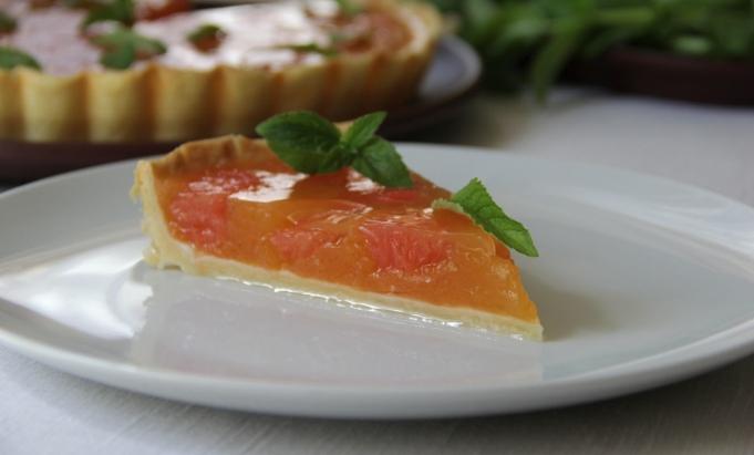 Пирог «Розовый грейпфрут»