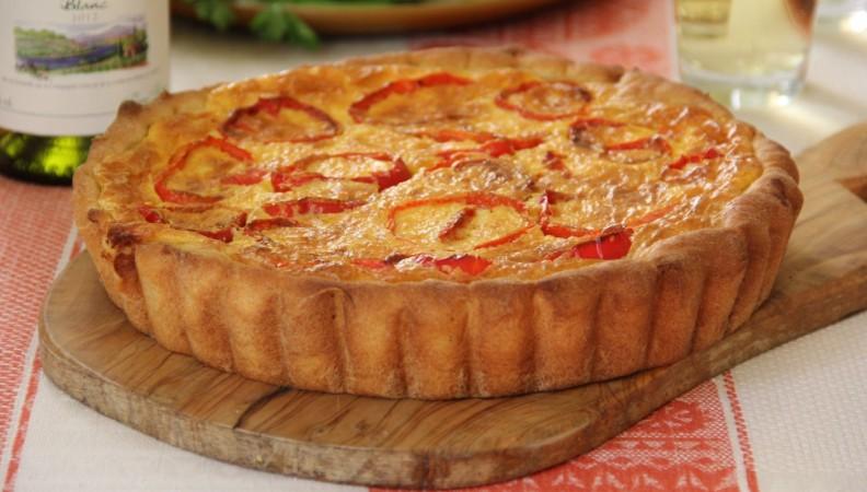 Пирог с рикоттой и сладким перцем
