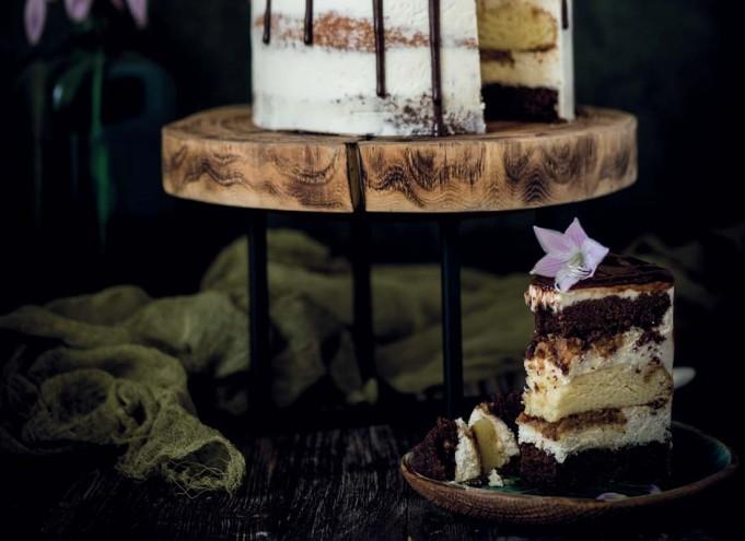 Банановый торт с гаудой