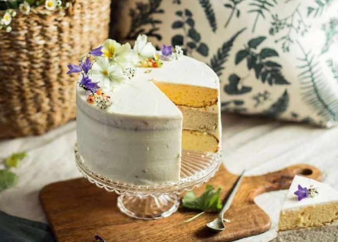 Лимонный торт на желтках с кокосовым чизкейком