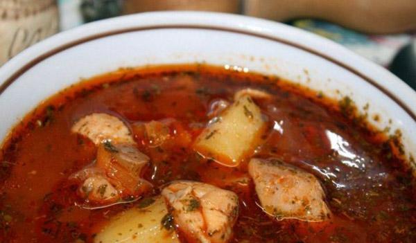 Густой суп из свинины