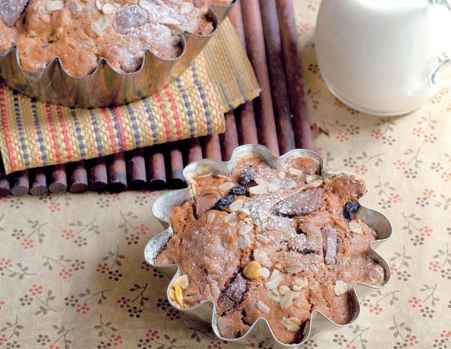 Кекс с шоколадом и простоквашей