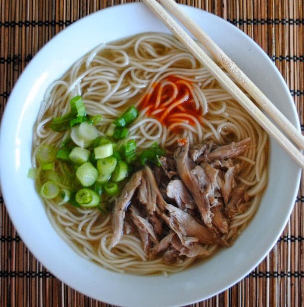 Японский суп с уткой