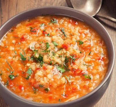 Куриный суп с чечевицей и булгуром в мультиварке
