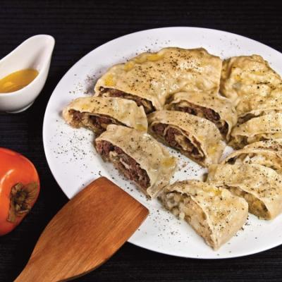 Хунон (паровой рулет с мясной и с картофельной начинкой)