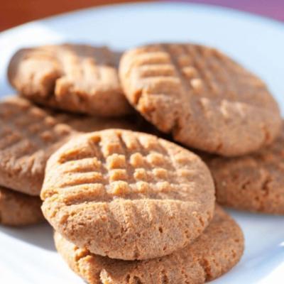 Кето-печенье из арахисовой муки без сахара и без глютена