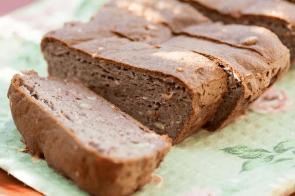 Кето-хлеб из арахисовой муки с псиллиумом