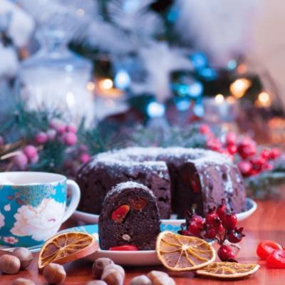 Новогодний шоколадный имбирный кето-кекс